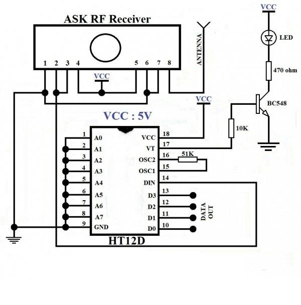 rf transmitter and receiver block diagram 1 light 2 switches wiring 433mhz circuit 50 diagrams readingrat net ask 600x557 2b433