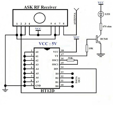 433MHZ RF circuit, ASK RF transmitter and receiver circuit diagram, circuit images, RF transmitter and receiver circuit diagram, wireless communication, wireless data transfer, wireless protocol, wireless transmitter and reciever,