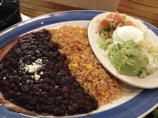 A picture of spicy black beans from on the boarder.