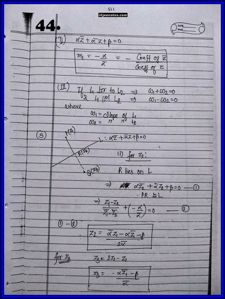 IITJEE Competition Notes On Complex Number 44
