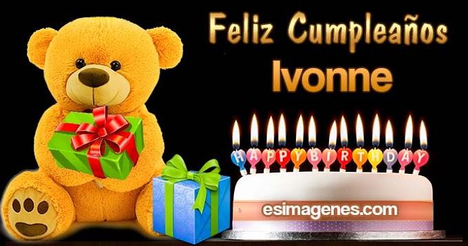 Feliz Cumpleaños Ivonne