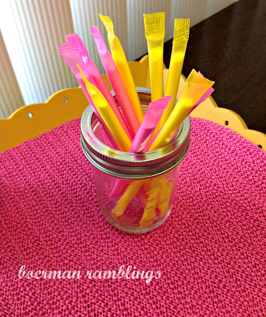 pink and yellow pixie sticks