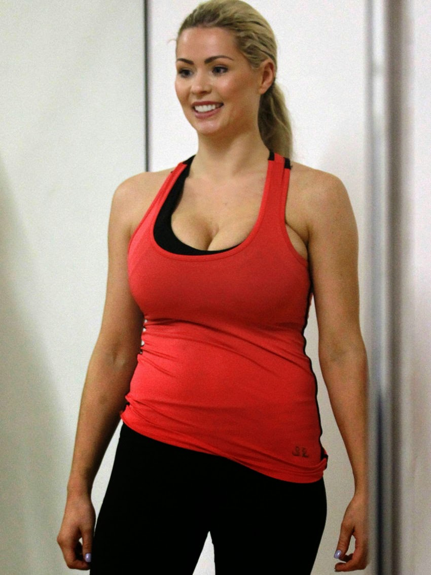 Nicola McLean busty celebrity in sport outfit
