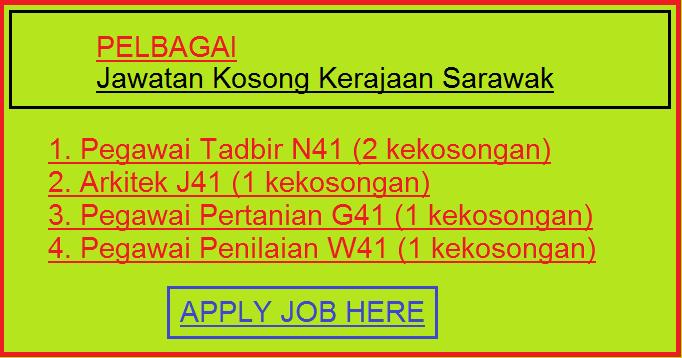 Pelbagai Jawatan Kosong Kerajaan Sarawak applyjobhere