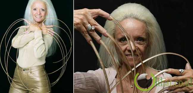 Wanita yang Memiliki Kuku Jari Terpanjang di Dunia