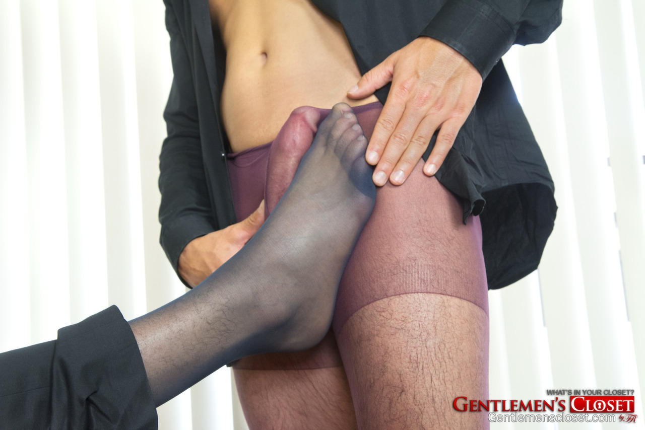 pantyhose on cock