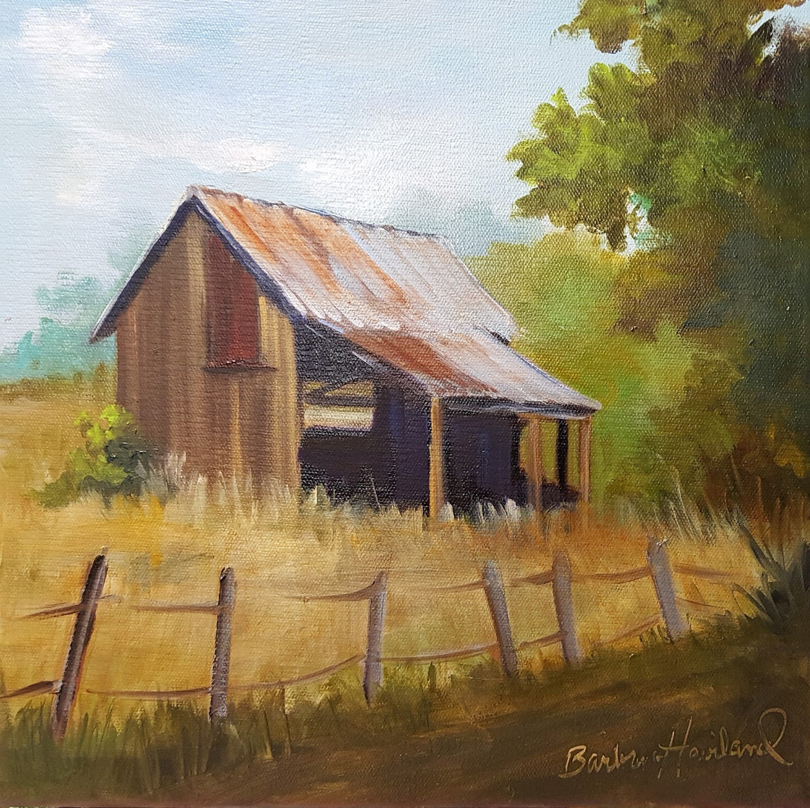 Artists Of Texas Contemporary Paintings And Art: Utah Barn