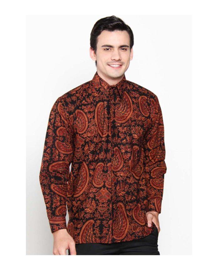 Batik Motif Bunga Pria: 32 Model Kemeja Batik Pria 2019 Desain Modern Banyak Di