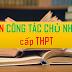 Sáng kiến kinh nghiệm Công tác Chủ nhiệm cấp THPT (SKKN Chủ nhiệm lớp 10, 11, 12)