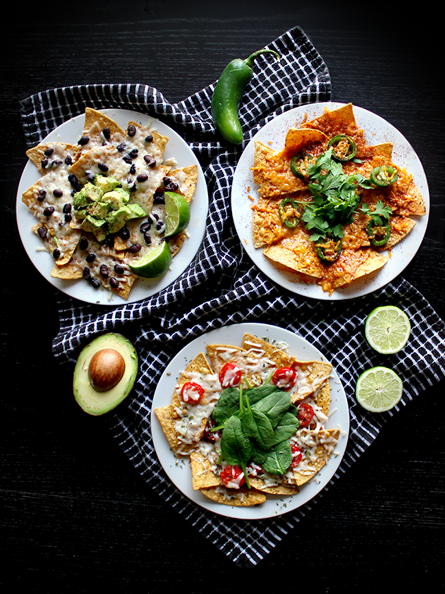 Vegan, Plant-Based Nachos, 3 Ways