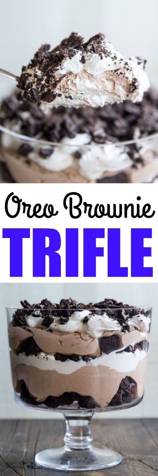 Say what yous desire close the goodness of homemade brownies Sweet Oreo Brownie Trifle