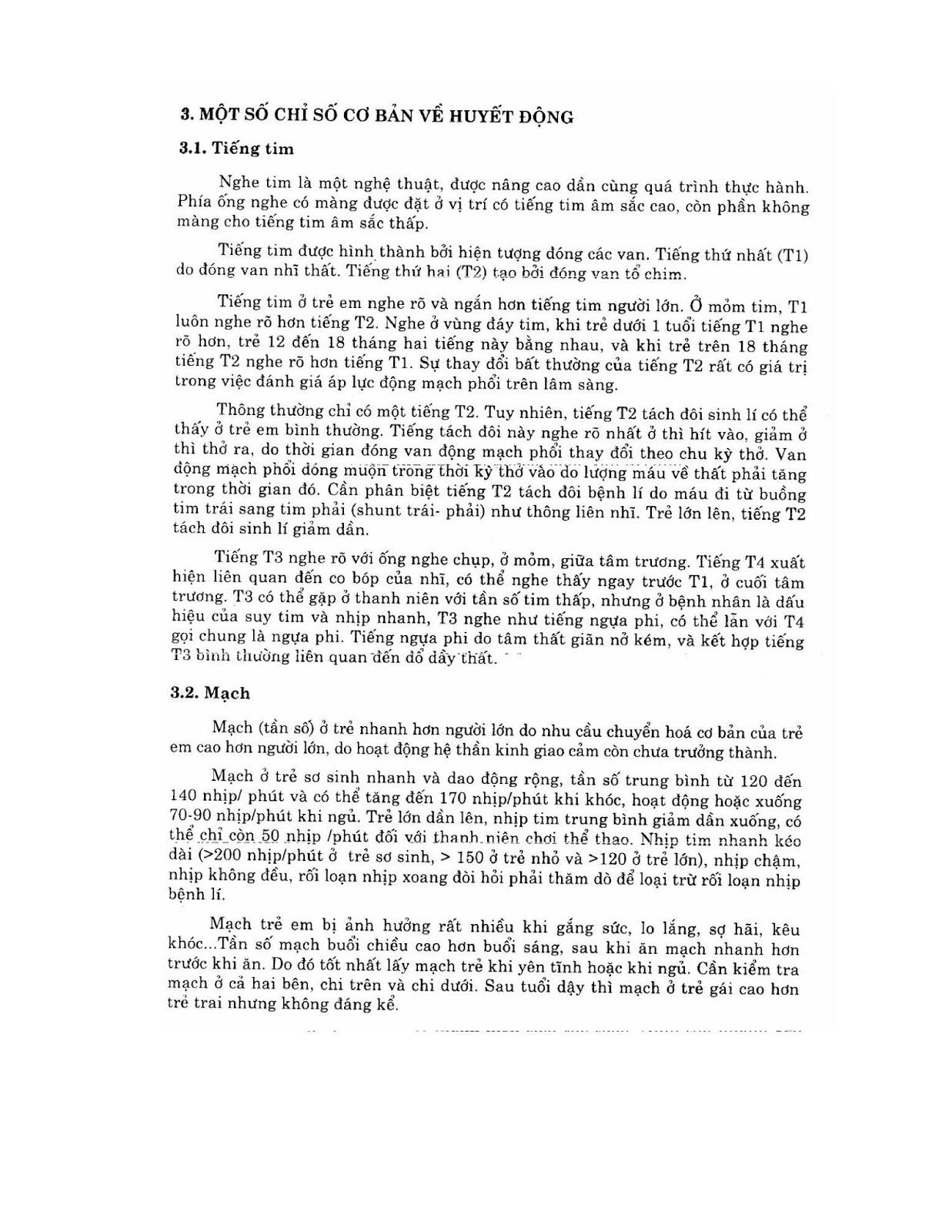 Trang 10 sach Bài giảng Nhi khoa - ĐH Y Hà Nội (Tập 2)