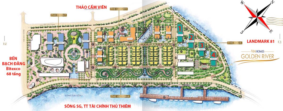 Mặt bằng tổng quan dự án Vinhomes Golden River