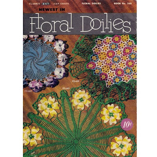Crocheted Floral Doilies Book 286 Back Cover