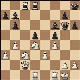 Partida de ajedrez Pere Mas vs. Àngel Ribera en 1932, posición después de 23…Af6