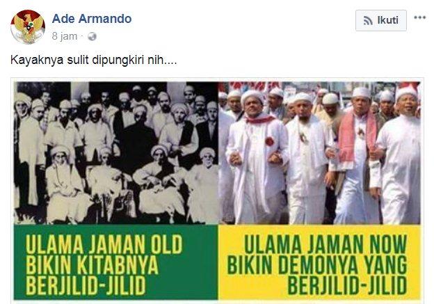 Makin Getol Hina Ulama, Ini Doa Netizen untuk Ade Armando