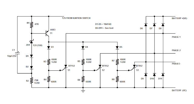 wiring diagram for motorcycle rectifier wiring motorcycle rectifier regulator circuit diagram jodebal com on wiring diagram for motorcycle rectifier