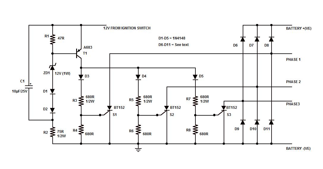 Make Sense Of Diesel Engine Specs moreover 4 01 further Wire Ac Delco Wire Alternator 5136448 further Ford Alternator Wiring Diagram Internal besides Motorcycle Shunt Regulator Circuit. on high output alternator