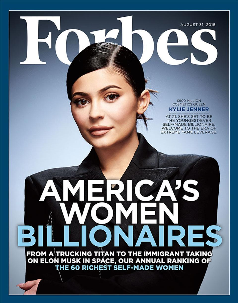 Kylie Jenner is boss girl for the Forbes August 2018 cover