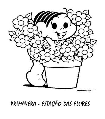 30 atividades primavera turma da mÔnica e desenhos colorir imprimir