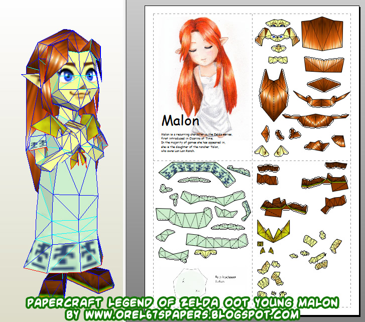 dl papercraft zelda oot young malon new version