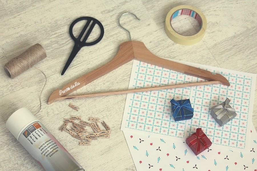 Calendario de adviento con una percha - Materiales