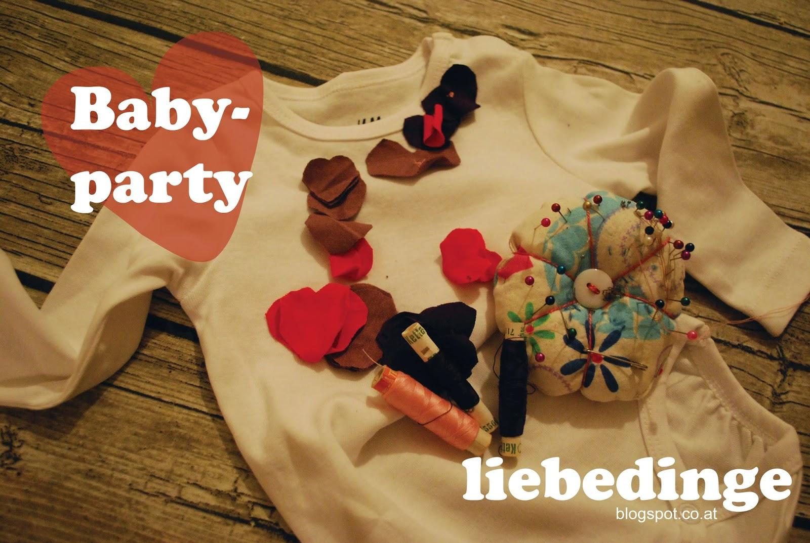 Vorbereitungen f r eine babyparty for Ideen fur eine babyparty