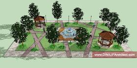 DINILIFA ARCHITECT: Desain Taman Di Kompleks Perumahan, Kalimantan Tengah