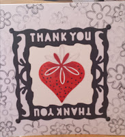 Thank you card - strawberry (first version)