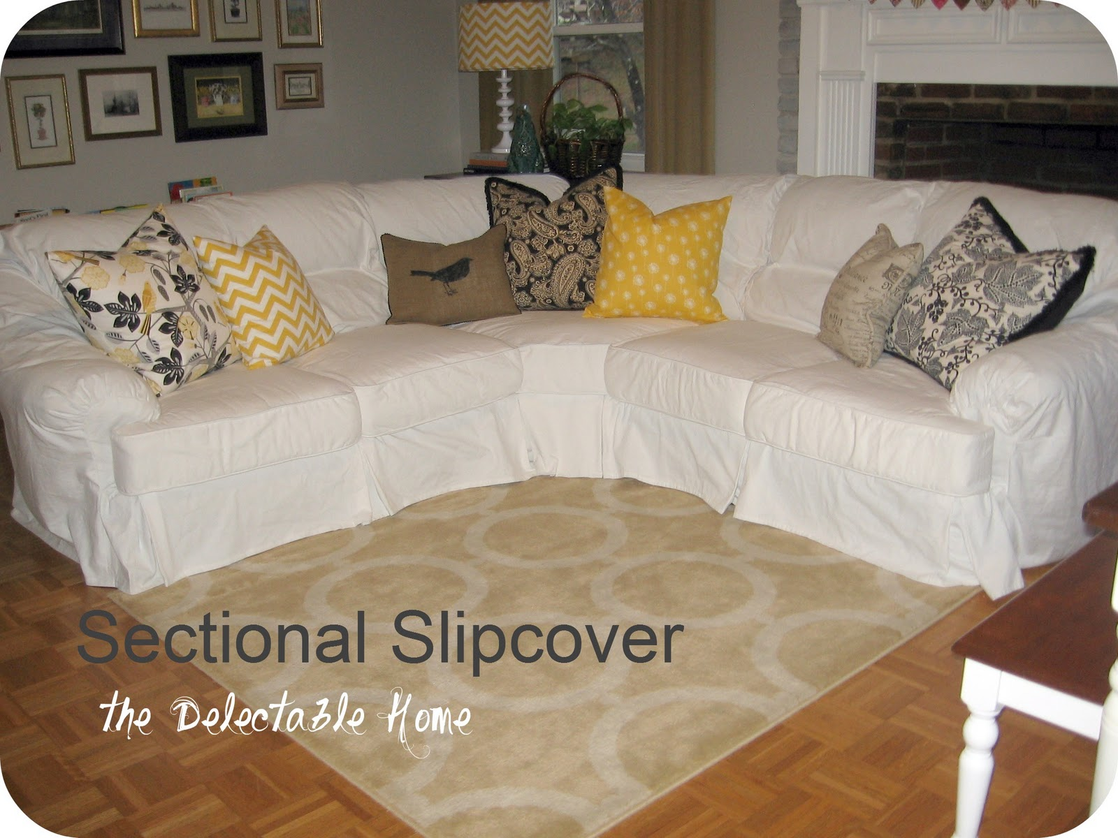 Sofa Sectionals Covers Feather Down The Delectable Home Impossible Sectional Slipcover
