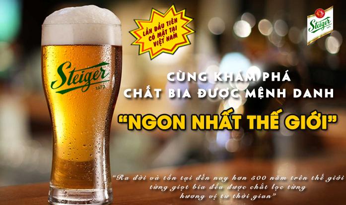 khuyến mại bia Steiger tại biangon.vn