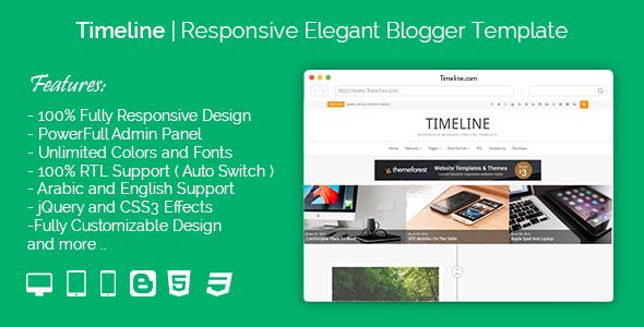 Timeline - Responsive Timeline Blogger Templates