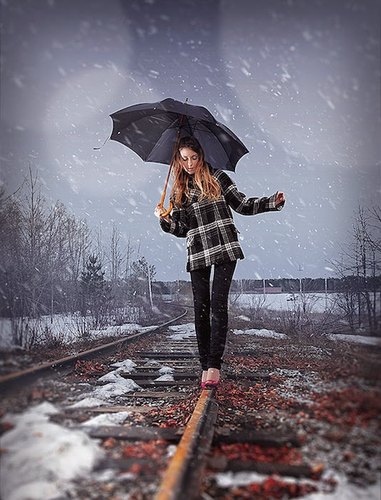 15. Learn How to Add Realistic Snow Fall in Photoshop