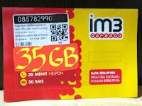 Kartu Perdana Indosat 35 GB kuota 35GB
