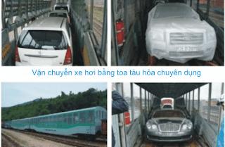 Quy trình vận chuyển ô tô bằng tàu hỏa