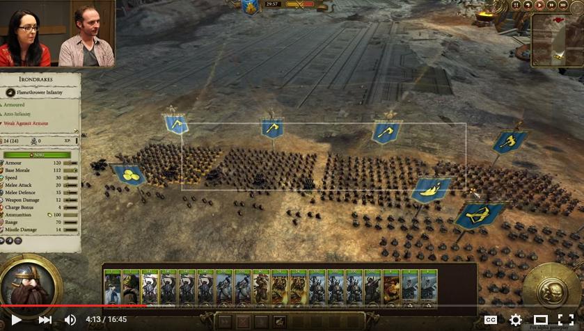 Total War Warhammer Gameplay Video: More Dwarves