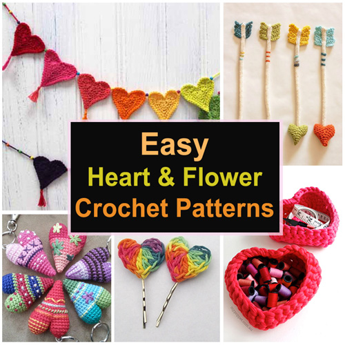 Easy Heart & Flower Crochet Patterns