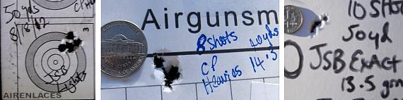 Carabinas de aire, grupos