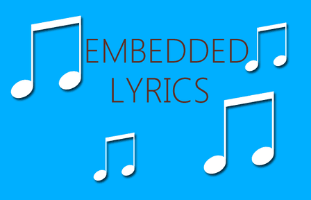 embedded lyrics