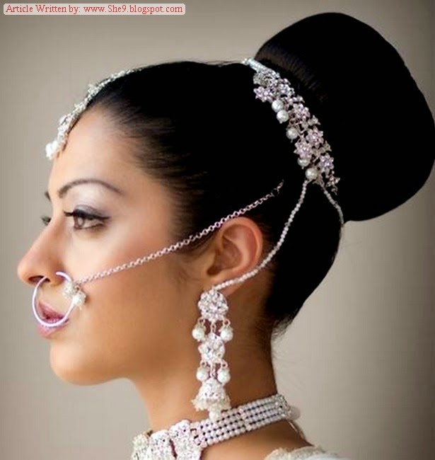 Wedding Hairstyles Indian: Pakistani Bridal Hairstyles 2014-2015 For Walima Party And