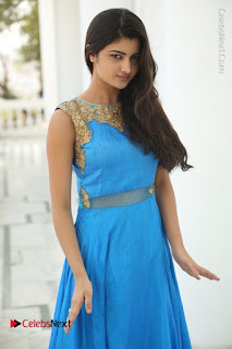 Telugu Actress Akshita (Pallavi Naidu) Latest Stills in Blue Long Dress at Inkenti Nuvve Cheppu Movie Promotions  0050.jpg