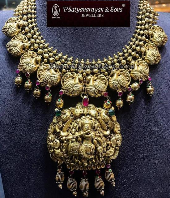 Peacock Krishna Nakshi Set by PSJ