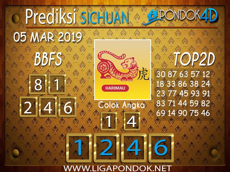 Prediksi Togel SICHUAN PONDOK4D 05 MARET 2019