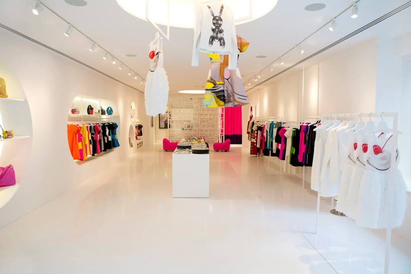 The collection on display in the Lisa Perry New York boutique