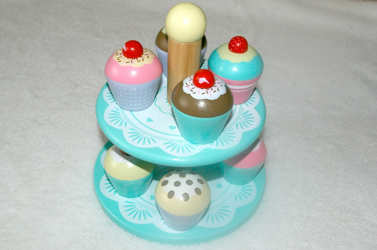 Wooden cupcake stand from the Great Little Trading Company