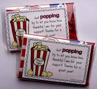 Freebie: Popcorn Gift Tags
