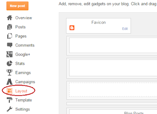 how to add a gadget in blogger blog