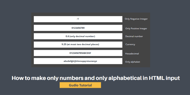 Only Numbers or Alphabetical In HTML Input