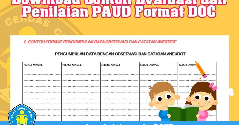 Download Contoh Evaluasi Dan Penilaian Paud Operator Sekolah