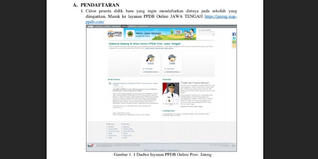 Panduan Pendaftaraan PPDB Online Provinsi Jawa Tengah untuk Pendaftar atau Calon Siswa